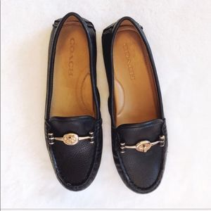 Coach Arlene Turnlock Black Loafer